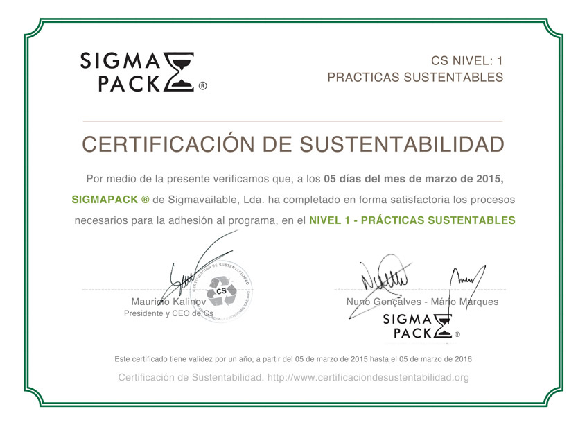 Compromiso Ambiental Sigmapack